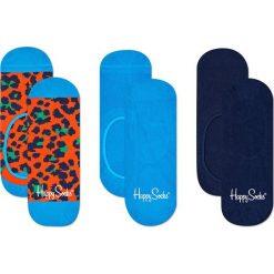 Happy Socks - Stopki Leopard (3-pak). Niebieskie skarpetki damskie Happy Socks, z bawełny. Za 69,90 zł.