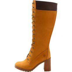 Timberland ALLINGTON 14IN SIDE ZIP Kozaki sznurowane wheat. Żółte buty zimowe damskie marki Timberland, z materiału. Za 879,00 zł.