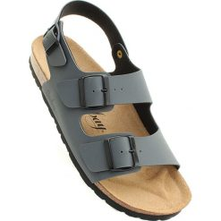 """Sandały męskie: Sandały """"Vetiver"""" w kolorze antracytowym"""