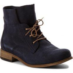 Botki WOJAS - 8553-26 Granatowy. Czarne buty zimowe damskie marki Wojas, z materiału, z okrągłym noskiem. W wyprzedaży za 279,00 zł.