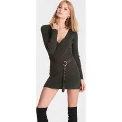 Ciemnozielony Sweter House Of Love. Zielone swetry klasyczne damskie marki other, l. Za 64,99 zł.