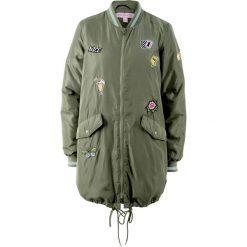 Bomberki damskie: Długa kurtka z kolekcji Maite Kelly bonprix oliwkowy