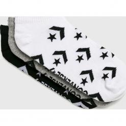 Converse - Skarpetki (3-pack). Szare skarpetki damskie Converse, z bawełny. W wyprzedaży za 34,90 zł.