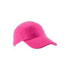 Czapka z daszkiem fitness. Czerwone czapki z daszkiem damskie DOMYOS, z materiału. Za 19,99 zł.