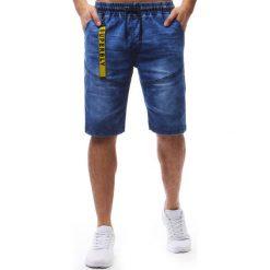 Spodenki i szorty męskie: Spodenki męskie denim look niebieskie (sx0600)