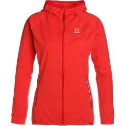 Haglöfs LITHE HOOD WOMEN Bluza pop red. Czerwone bluzy rozpinane damskie Haglöfs, l, z elastanu. W wyprzedaży za 423,20 zł.