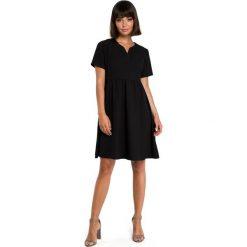 Odzież damska: Sukienka mini odcinana pod biustem - czarna