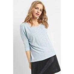 Koszulka basic oversize. Niebieskie t-shirty damskie Orsay, m, z dzianiny, z dekoltem w łódkę. Za 49,99 zł.