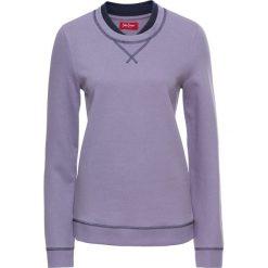 Bluzy damskie: Bluza z podwójnym kołnierzem, długi rękaw bonprix dymny fioletowy