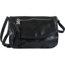 """Torebki klasyczne damskie: Skórzana torebka """"Maggie"""" w kolorze czarnym – 27 x 19 x 4,5 cm"""