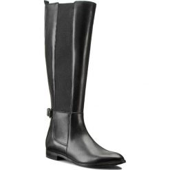 Oficerki GINO ROSSI - Alba DKG630-F36-3V00-9900-F Czarny 99. Czarne buty zimowe damskie marki Gino Rossi, z materiału, na obcasie. W wyprzedaży za 419,00 zł.