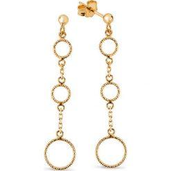 Kolczyki damskie: Zjawiskowe Kolczyki Złote - złoto żółte 585