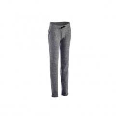 Spodnie dresowe Slim Gym & Pilates 500 damskie. Szare bryczesy damskie DOMYOS, l, z bawełny, na jogę i pilates. Za 64,99 zł.