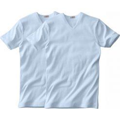 T-shirt EMINENCE z dekoltem w serek z krótkim rękawem (dwupak). Białe podkoszulki męskie marki B'TWIN, m, z elastanu, z krótkim rękawem. Za 180,56 zł.