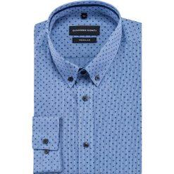 Koszula SIMONE KDNR000404. Niebieskie koszule męskie na spinki Giacomo Conti, m, z materiału, button down, z długim rękawem. Za 149,00 zł.