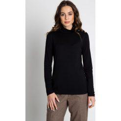 Bluzki asymetryczne: Czarna bluzka z golfem BIALCON