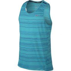 T-shirty męskie: koszulka do biegania męska NIKE DRI-FIT COOL TAILWIND STRIPE TANK / 724805-418 - NIKE DRI-FIT COOL TAILWIND STRIPE TANK