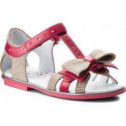 Sandały dziewczęce: Sandały BARTEK – 36182/1M4 Beżowo Różowy