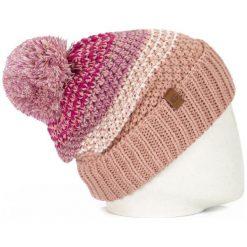Nugget Czapka Damska Ofeila Beanie, Różowa. Czerwone czapki zimowe damskie Nugget, w paski. Za 92,00 zł.
