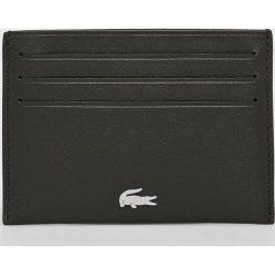 Lacoste - Portfel skórzany. Czarne portfele męskie Lacoste, z materiału. Za 229,90 zł.