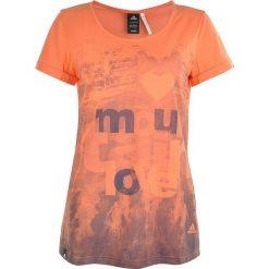 Adidas T-shirt WS Z11384. Brązowe t-shirty damskie marki Adidas, z bawełny. W wyprzedaży za 69,99 zł.