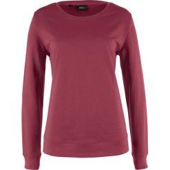 Bluzy damskie: Bluza dresowa bonprix czerwony purpurowy