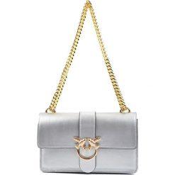 Torebki klasyczne damskie: Skórzana torebka w kolorze srebrnym – (S)27 x (W)16 x (G)7 cm