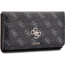 Duży Portfel Damski GUESS - SWSG68 65450 BLA. Czarne portfele damskie marki Guess, z aplikacjami, ze skóry ekologicznej. W wyprzedaży za 229,00 zł.