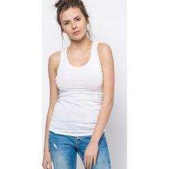 Bluzka basic bokserka biała. Białe bluzki z odkrytymi ramionami Yups, l, z bawełny, młodzieżowe. Za 29,99 zł.