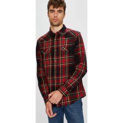 Wrangler - Koszula. Brązowe koszule męskie na spinki Wrangler, l, w kratkę, z bawełny, z klasycznym kołnierzykiem, z długim rękawem. Za 259,90 zł.