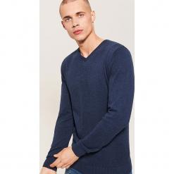 Sweter basic - Granatowy. Niebieskie swetry klasyczne męskie marki House, l. Za 69,99 zł.