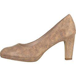 Buty ślubne damskie: Czółenka w kolorze beżowym