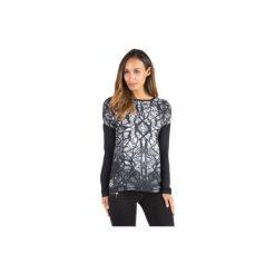 Bluzki asymetryczne: bluzka damska klasyczna gładka, z printem
