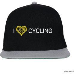 Czapka FullCap. I love cycling. Czarne czapki z daszkiem damskie marki Pakamera, z nadrukiem. Za 69,00 zł.
