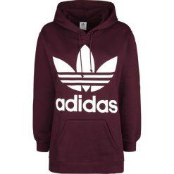 Adidas Oversized Trefoil Hoodie Bluza z kapturem damska bordowy. Szare bluzy z kapturem damskie marki Adidas, l, z dresówki, na jogę i pilates. Za 324,90 zł.