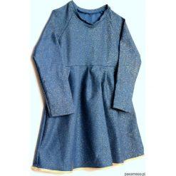 Sukienka z brokatem. Niebieskie sukienki dziewczęce z falbanami Pakamera. Za 65,00 zł.