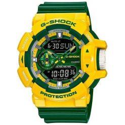 Zegarek Casio Męski GA-400CS-9AER G-Shock żółto-zielony. Zielone zegarki męskie CASIO. Za 618,75 zł.