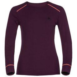 Bluzki sportowe damskie: Odlo Koszulka damska Shirt l/s crew neck Warm fioletowa r. S (152021)