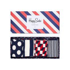 Skarpety Happy Socks Gift Box 4-Pak (XBDO09-6000). Szare skarpetki męskie marki Happy Socks, z bawełny. Za 109,99 zł.