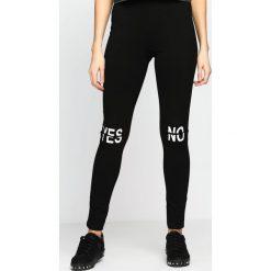 Spodnie damskie: Czarne Legginsy Yes Or No
