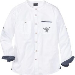 Koszula ludowa Regular Fit bonprix biały. Białe koszule męskie marki bonprix, z klasycznym kołnierzykiem, z długim rękawem. Za 49,99 zł.