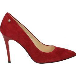 Czółenka - 24069 CAM BOR. Czerwone buty ślubne damskie Venezia, ze skóry. Za 299,00 zł.