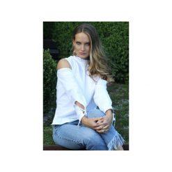 Damska koszula GIOVANNA. Białe koszule wiązane damskie Martino demi, l, z bawełny, eleganckie, z falbankami. Za 279,65 zł.