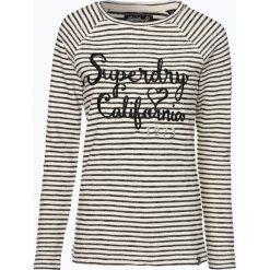 Superdry - Damska koszulka z długim rękawem, beżowy. Szare t-shirty damskie marki Superdry, l, z tkaniny, z okrągłym kołnierzem, na ramiączkach. Za 189,95 zł.
