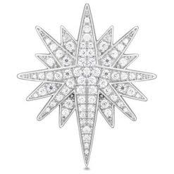 Wyjątkowa Srebrna Broszka - srebro 925, Cyrkonia. Czerwone broszki damskie marki Sinsay. Za 349,00 zł.