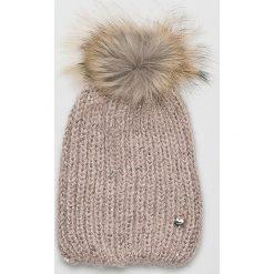 Liu Jo - Czapka zimowa. Szare czapki zimowe damskie marki Liu Jo, na zimę, z dzianiny. Za 199,90 zł.