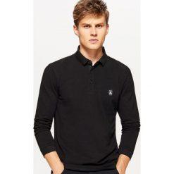 Koszulka polo z długimi rękawami - Czarny. Czarne koszulki polo Cropp, l, z długim rękawem. Za 59,99 zł.