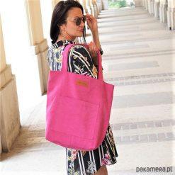 Duża torba szoperka Mili Chic MC4 - pink. Różowe torebki klasyczne damskie marki Pakamera, duże. Za 135,00 zł.