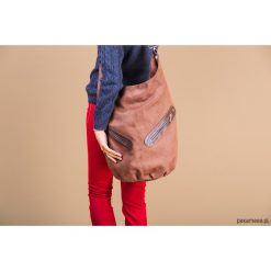 KOFI - duża torba worek - brązowa. Brązowe torebki klasyczne damskie Pakamera, duże. Za 156,00 zł.