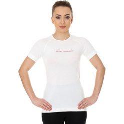 Bluzki sportowe damskie: Brubeck Koszulka damska 3D Run PRO z krótkim rękawem biała r. L (SS12030)
